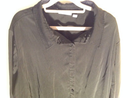 Lovely Susan Graver Black Jacket Shirt Button Up Long Sleeve Collared Size 3X image 3