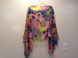 """MAD fashion New """"Pink Kayleigh"""" Scarf Cape Kimono Top, Two in One image 3"""