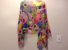 """MAD fashion New """"Pink Kayleigh"""" Scarf Cape Kimono Top, Two in One image 6"""