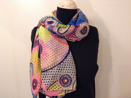 """MAD fashion New """"Pink Kayleigh"""" Scarf Cape Kimono Top, Two in One image 2"""