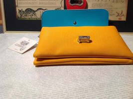 Mad About Style Yellow Teal and Red Block Clutch Bag Attachable Shoulder Strap image 4