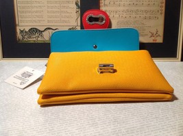 Mad About Style Yellow Teal and Red Block Clutch Bag Attachable Shoulder Strap image 5