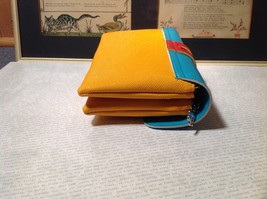 Mad About Style Yellow Teal and Red Block Clutch Bag Attachable Shoulder Strap image 3