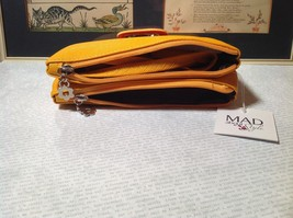 Mad About Style Yellow Teal and Red Block Clutch Bag Attachable Shoulder Strap image 6