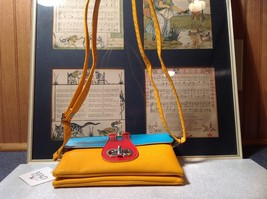 Mad About Style Yellow Teal and Red Block Clutch Bag Attachable Shoulder Strap image 8