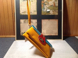Mad About Style Yellow Teal and Red Block Clutch Bag Attachable Shoulder Strap image 7