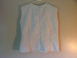 MIRI  NY Size 14 Sleeveless White Designer Textured Top Excellent Condition image 6