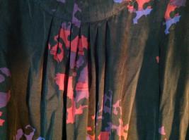 Mac and Jac Black Flowered Dress Size Medium Three Quarter Length Sleeves image 5