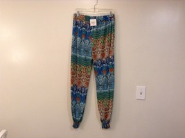 Mad Style One Size Fits Most Wide Leg Multicolored Printed Pants Elastic Waist image 2
