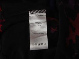 Mac and Jac Black Flowered Dress Size Medium Three Quarter Length Sleeves image 8