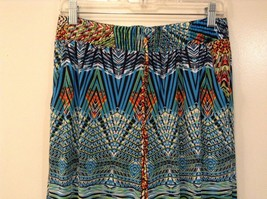 Mad Style One Size Fits Most Wide Leg Multicolored Printed Pants Elastic Waist image 3
