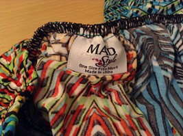 Mad Style One Size Fits Most Wide Leg Multicolored Printed Pants Elastic Waist image 6