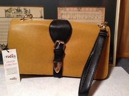 Mad Style NEW Yellow Buckle Roll Three In One Clutch Bag with 3 Different Straps image 9
