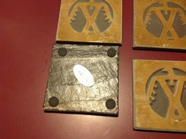 "Made USA slate tile coaster engraved  4"" square Indigenous Peoples Eagle Symbol image 3"