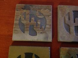 "Made in USA slate tile coaster engraved saguaro cactus crescent moon  4"" square image 2"