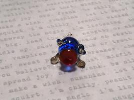 Made in USA Cute Hand Blown Glass Mini Figurine Blue Piglet image 5
