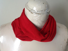 Magic Slinky Infinity Red Ring Scarf with Spandex See Measurements Below image 3