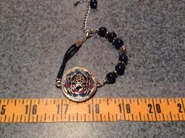 Mandala Frog Dark Blue Beads Adjustable Length Marcella Bracelet Health Luck image 4