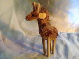 Palm Fiber Giraffe Brush Animal Eco Fiber Sustainable Ornament image 5