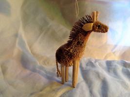 Palm Fiber Giraffe Brush Animal Eco Fiber Sustainable Ornament image 3