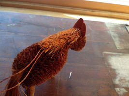 Palm Fiber Orange Horse Brush Eco Fiber Sustainable Made in Philippines image 4
