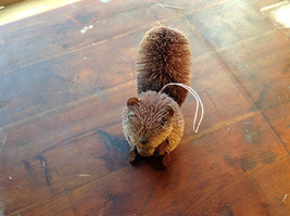 Palm Fiber Gray Squirrel with Nut  Brush Ornament  Eco Fiber Sustainable image 5