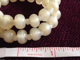 Pearlescent Glass translucent white Memory Wire Bracelet Handmade Lampwork image 7