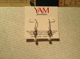 Pearls Star of David Handmade Sterling Silver Judaica Earrings 925 Sterling image 2