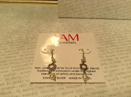 Pearls Star of David Handmade Sterling Silver Judaica Earrings 925 Sterling image 3