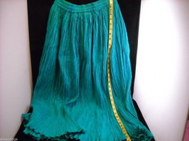 Peasant Style Skirt in Teal with Elastic Waistband image 9