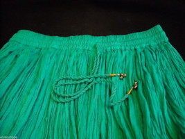 Peasant Style Skirt in Teal with Elastic Waistband image 8