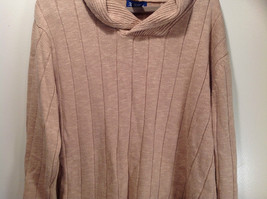 Paul Fredrick Size Medium Big Collar Brown Sweater Excellent Condition image 4
