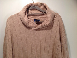 Paul Fredrick Size Medium Big Collar Brown Sweater Excellent Condition image 2