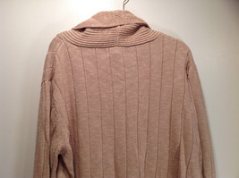 Paul Fredrick Size Medium Big Collar Brown Sweater Excellent Condition image 8