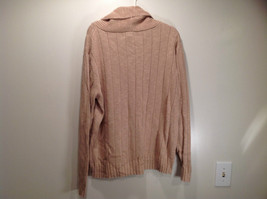 Paul Fredrick Size Medium Big Collar Brown Sweater Excellent Condition image 7