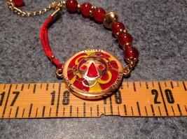 Mandala Ladybug Red Beads Marcella Bracelet Love Fortune Balance Gold Tone  image 5