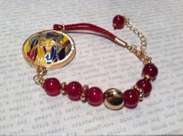 Mandala Starfish Violet Beads Marcella Bracelet Gold Tone Spirit Hope Glow image 5