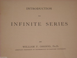 Math book from 1897 softcover booklet by William F. Osgood PhD image 5