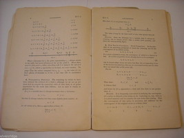 Math book from 1897 softcover booklet by William F. Osgood PhD image 7