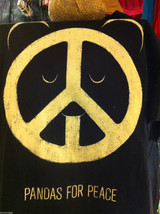 Men style M Brown t-shirt Pandas for Peace first edition image 3