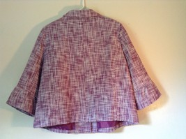 Merona Lined Blazer Purple and White Semi Long Sleeves 100% Cotton Size XL image 7