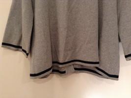 Mercer Street Studio Gray Cardigan Black Trim Stripe Snap Closure Size PL image 7