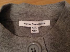 Mercer Street Studio Gray Cardigan Black Trim Stripe Snap Closure Size PL image 8