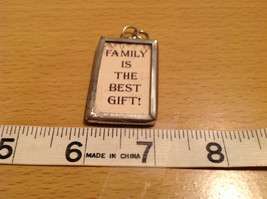 Metal and Glass Tag Charm Present Tie On Reversible Versatile Family is the Best image 3