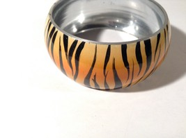 Metal Tiger Orange and Black Print Wide Band Bracelet image 2