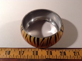 Metal Tiger Orange and Black Print Wide Band Bracelet image 5