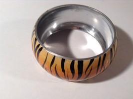Metal Tiger Orange and Black Print Wide Band Bracelet image 4