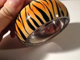 Metal Tiger Orange and Black Print Wide Band Bracelet image 3