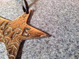 Metal Star Shaped HOPE Medallion Measurements Below image 3