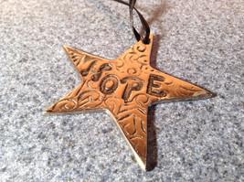 Metal Star Shaped HOPE Medallion Measurements Below image 2